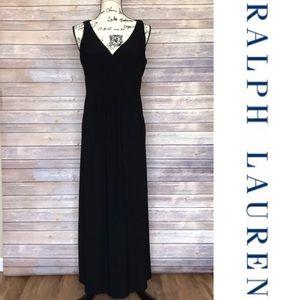 Lauren Ralph Lauren Black Maxi Dress | 10